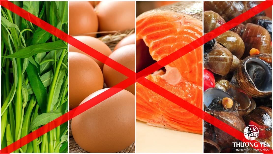 đẻ mổ không nên ăn gì